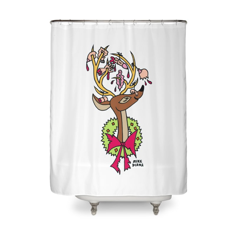 Mike Diana Christmas Trophy Home Shower Curtain by Mike Diana T-Shirts Mugs and More!
