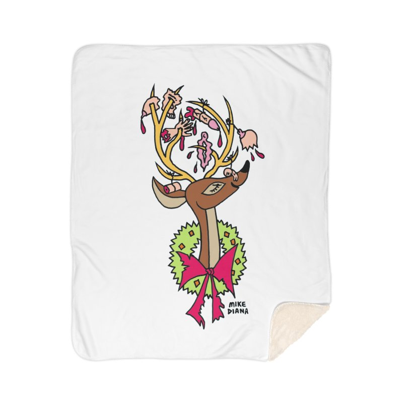 Mike Diana Christmas Trophy Home Sherpa Blanket Blanket by Mike Diana T-Shirts Mugs and More!