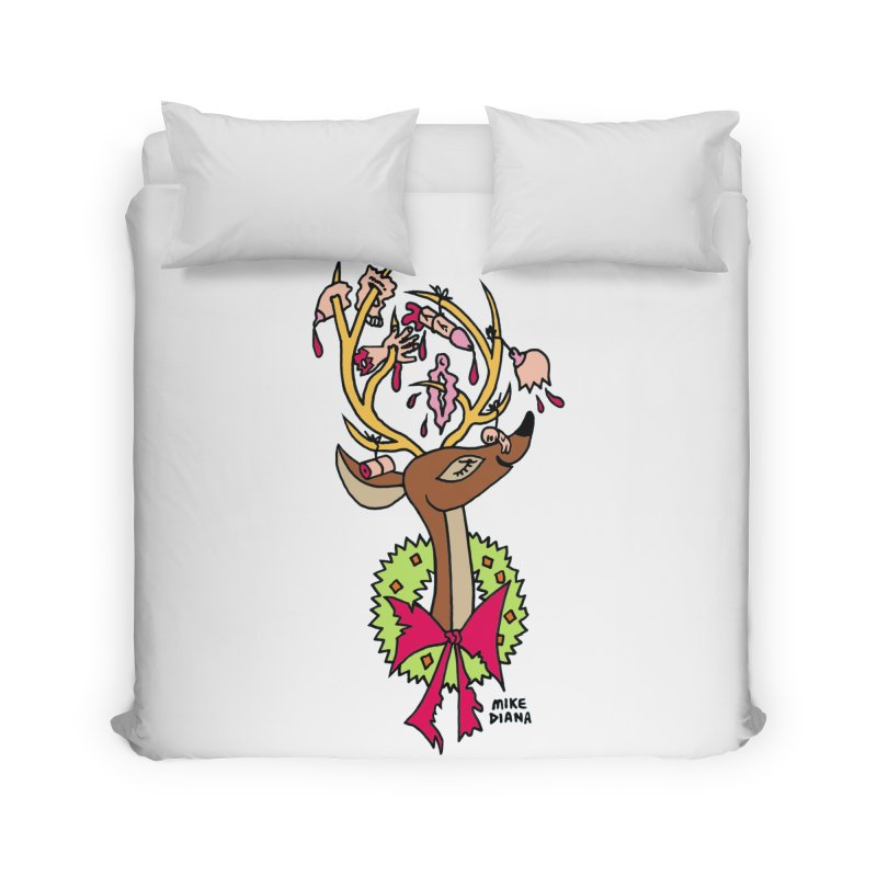 Mike Diana Christmas Trophy Home Duvet by Mike Diana T-Shirts! Horrible Ugly Heads Limited E
