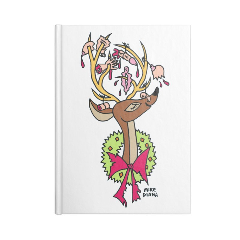 Mike Diana Christmas Trophy Accessories Notebook by Mike Diana T-Shirts! Horrible Ugly Heads Limited E