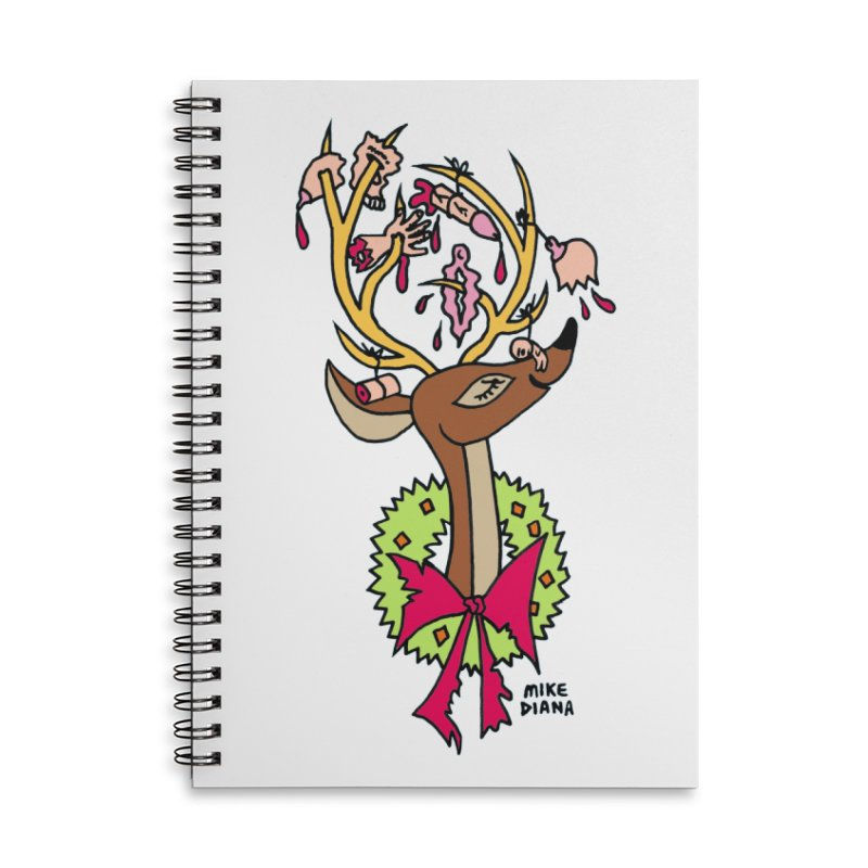 Mike Diana Christmas Trophy Accessories Lined Spiral Notebook by Mike Diana T-Shirts Mugs and More!