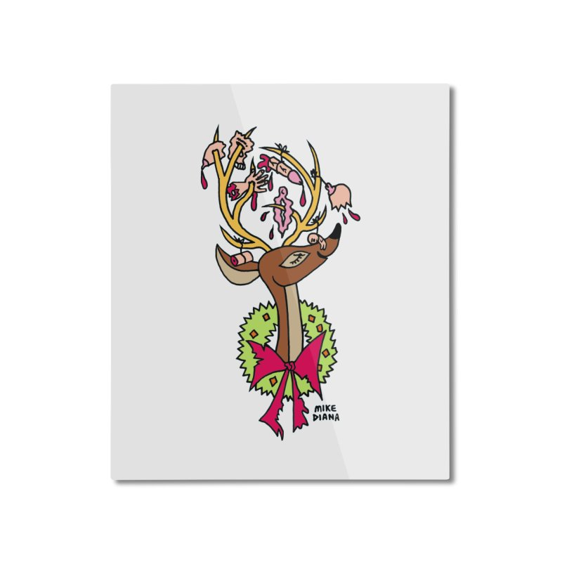 Mike Diana Christmas Trophy Home Mounted Aluminum Print by Mike Diana T-Shirts Mugs and More!