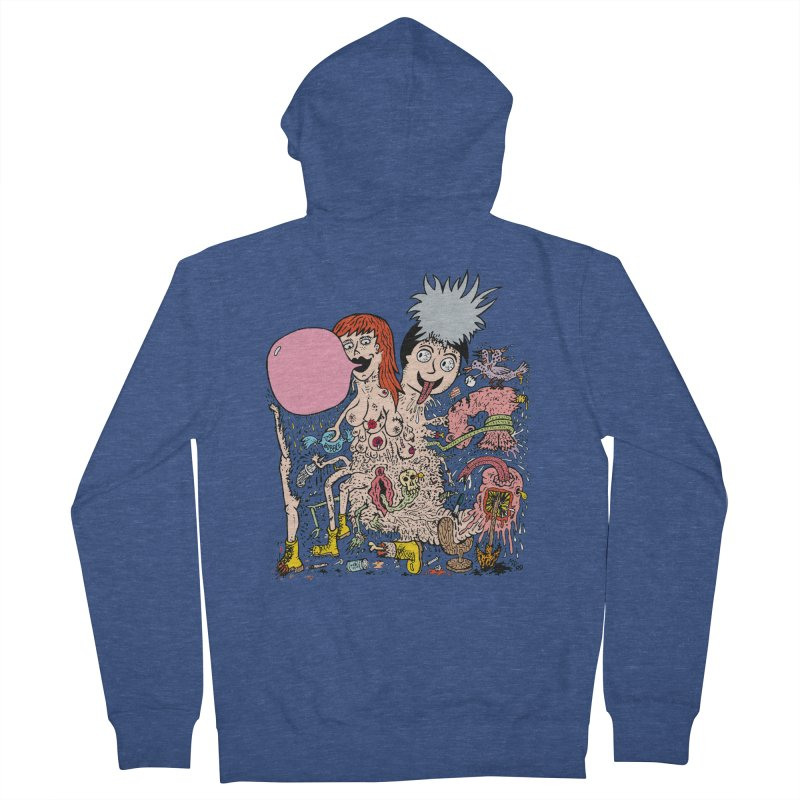PopTones Women's Zip-Up Hoody by Mike Diana T-Shirts! Horrible Ugly Heads Limited E