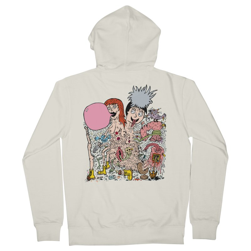 PopTones Men's Zip-Up Hoody by Mike Diana T-Shirts! Horrible Ugly Heads Limited E