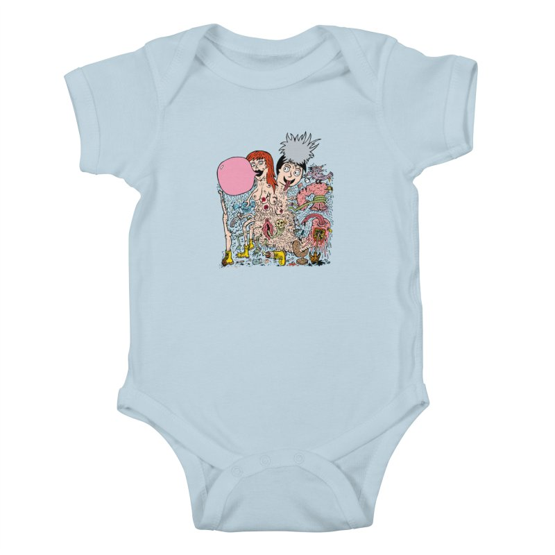 PopTones Kids Baby Bodysuit by Mike Diana T-Shirts! Horrible Ugly Heads Limited E