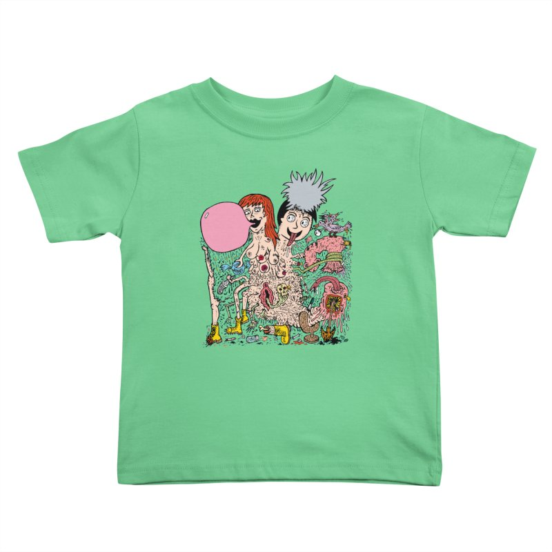 PopTones Kids Toddler T-Shirt by Mike Diana T-Shirts! Horrible Ugly Heads Limited E