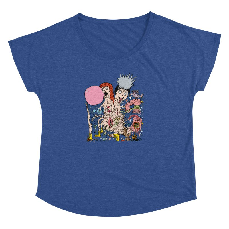 PopTones Women's Dolman by Mike Diana T-Shirts! Horrible Ugly Heads Limited E
