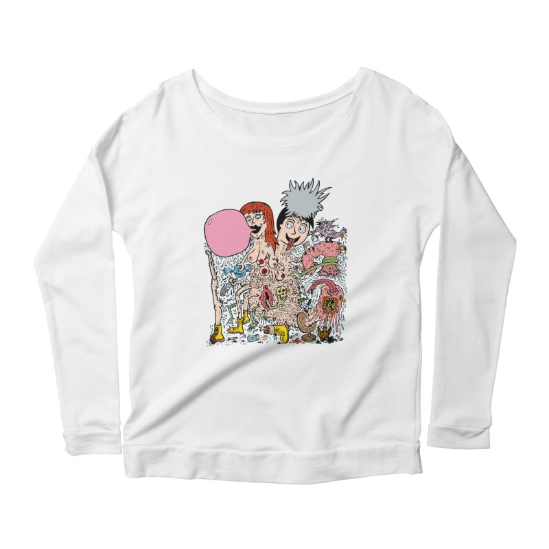 PopTones Women's Longsleeve Scoopneck  by Mike Diana T-Shirts! Horrible Ugly Heads Limited E
