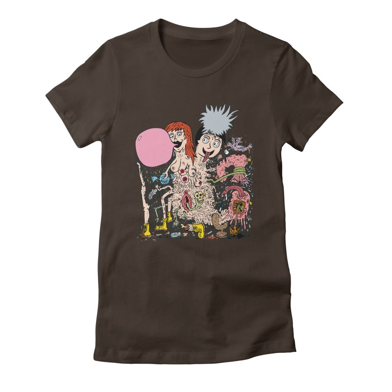 PopTones Women's Fitted T-Shirt by Mike Diana T-Shirts! Horrible Ugly Heads Limited E