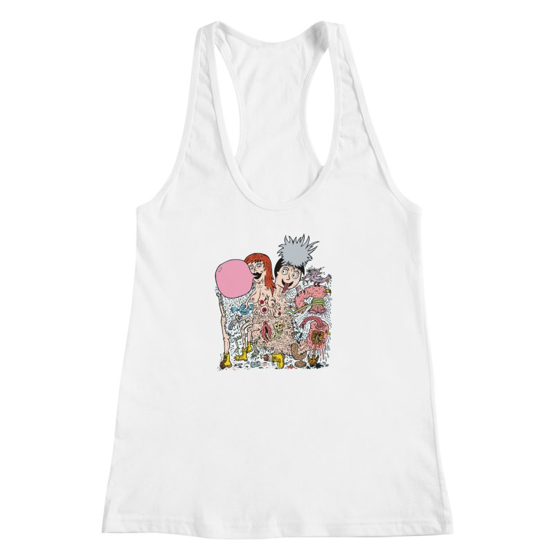 PopTones Women's Racerback Tank by Mike Diana T-Shirts! Horrible Ugly Heads Limited E