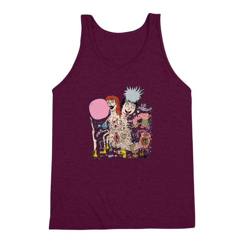 PopTones Men's Triblend Tank by Mike Diana T-Shirts! Horrible Ugly Heads Limited E