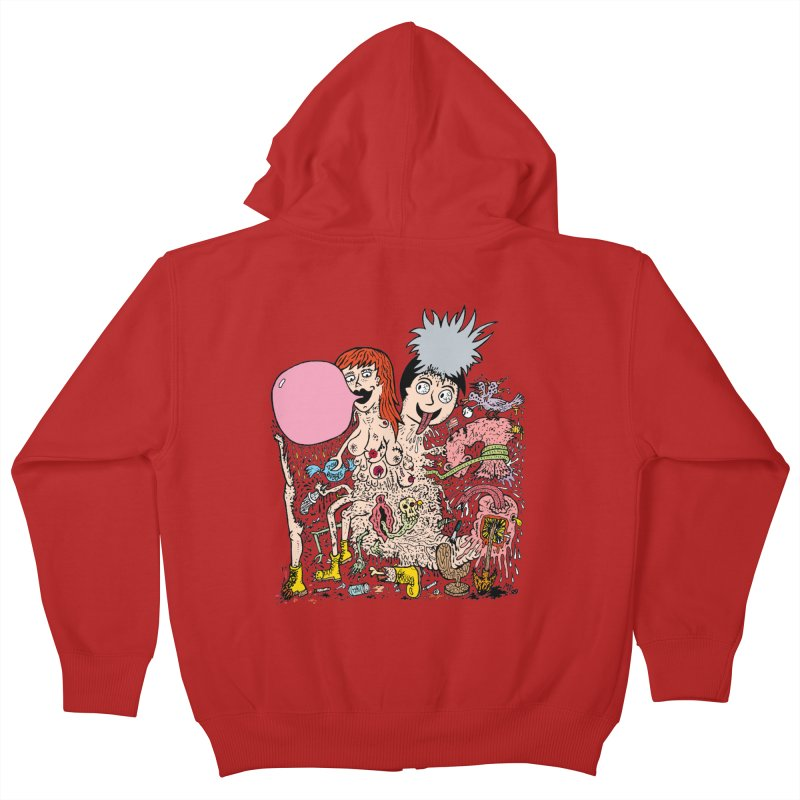 PopTones Kids Zip-Up Hoody by Mike Diana T-Shirts! Horrible Ugly Heads Limited E