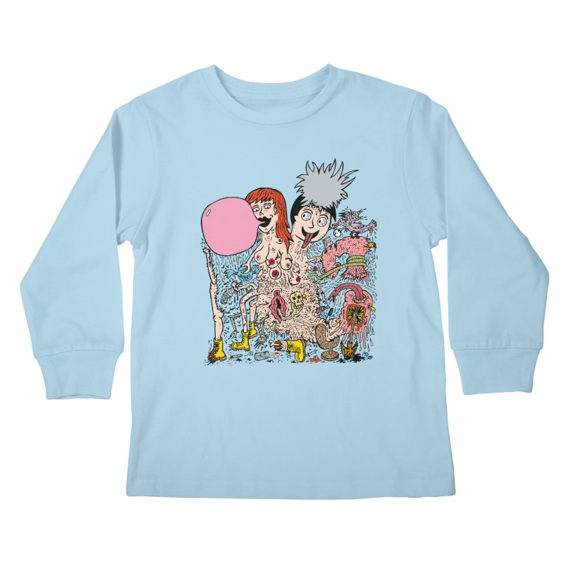 PopTones Kids Longsleeve T-Shirt by Mike Diana T-Shirts! Horrible Ugly Heads Limited E