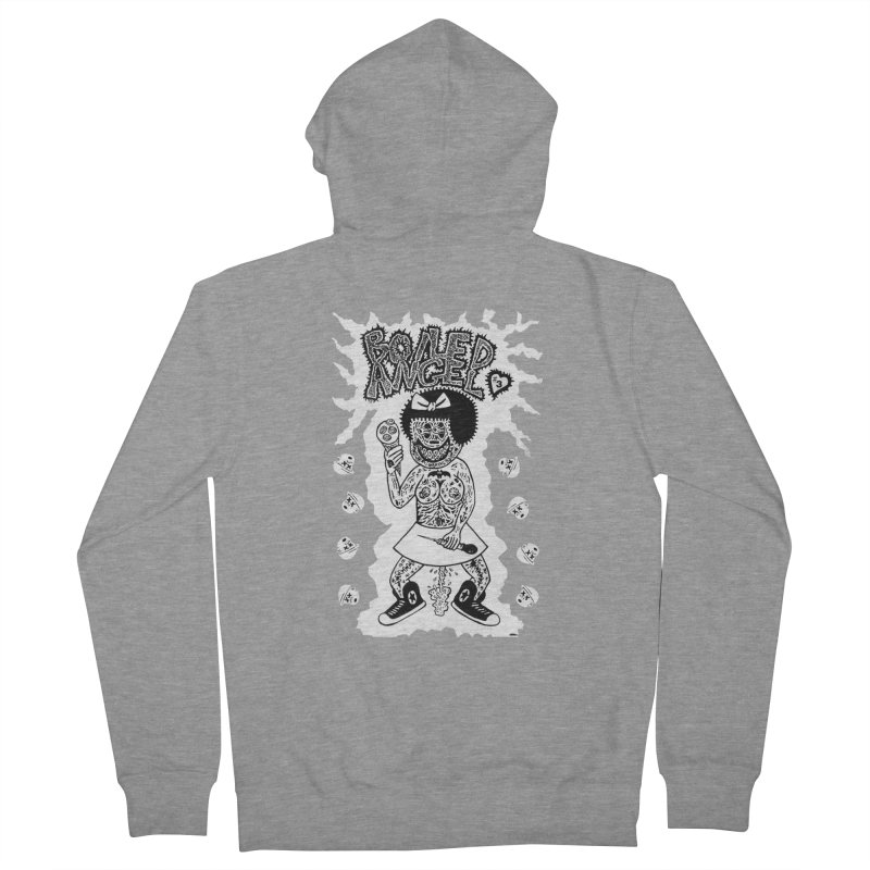 Boiled Angel Nancy  Men's Zip-Up Hoody by Mike Diana T-Shirts! Horrible Ugly Heads Limited E