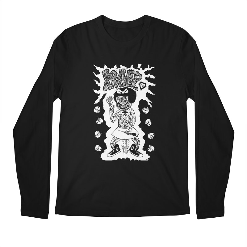 Boiled Angel Nancy  Men's Longsleeve T-Shirt by Mike Diana T-Shirts! Horrible Ugly Heads Limited E