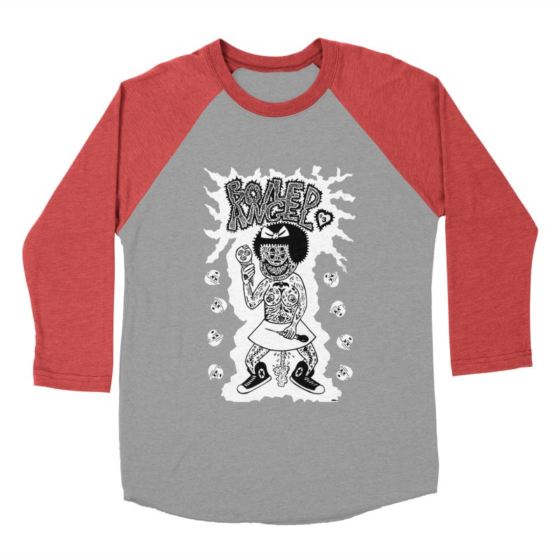 Boiled Angel Nancy  Men's Baseball Triblend T-Shirt by Mike Diana T-Shirts! Horrible Ugly Heads Limited E