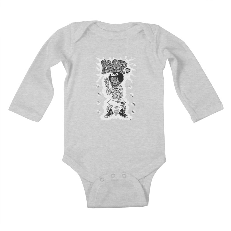 Boiled Angel Nancy  Kids Baby Longsleeve Bodysuit by Mike Diana T-Shirts! Horrible Ugly Heads Limited E
