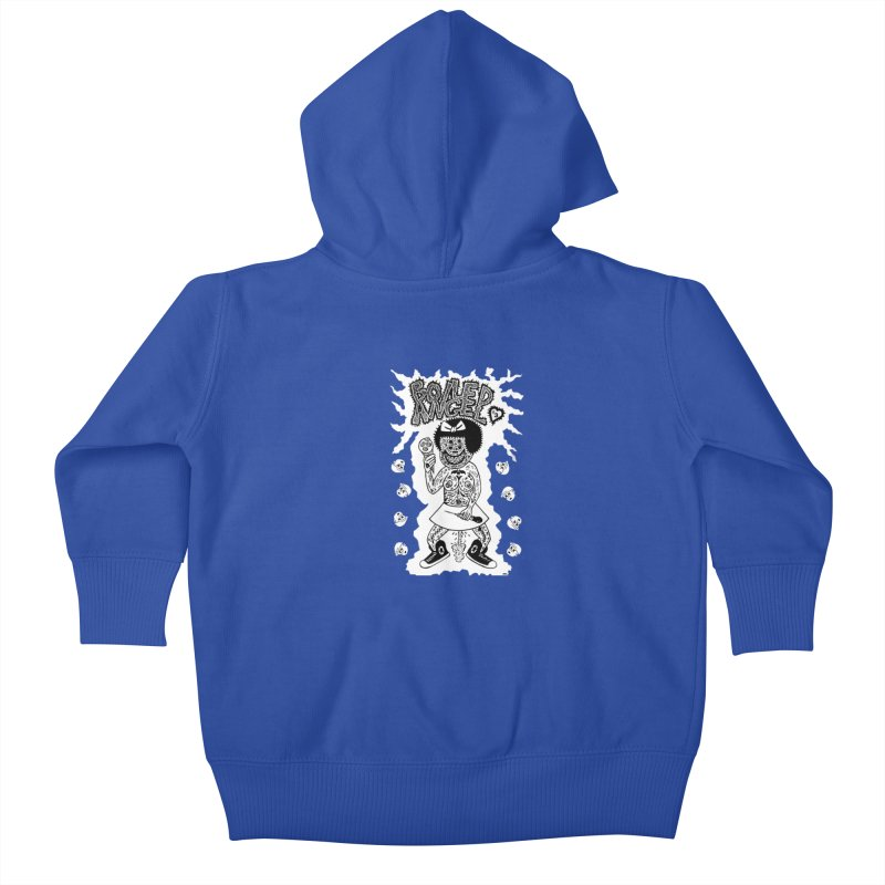 Boiled Angel Nancy  Kids Baby Zip-Up Hoody by Mike Diana T-Shirts! Horrible Ugly Heads Limited E