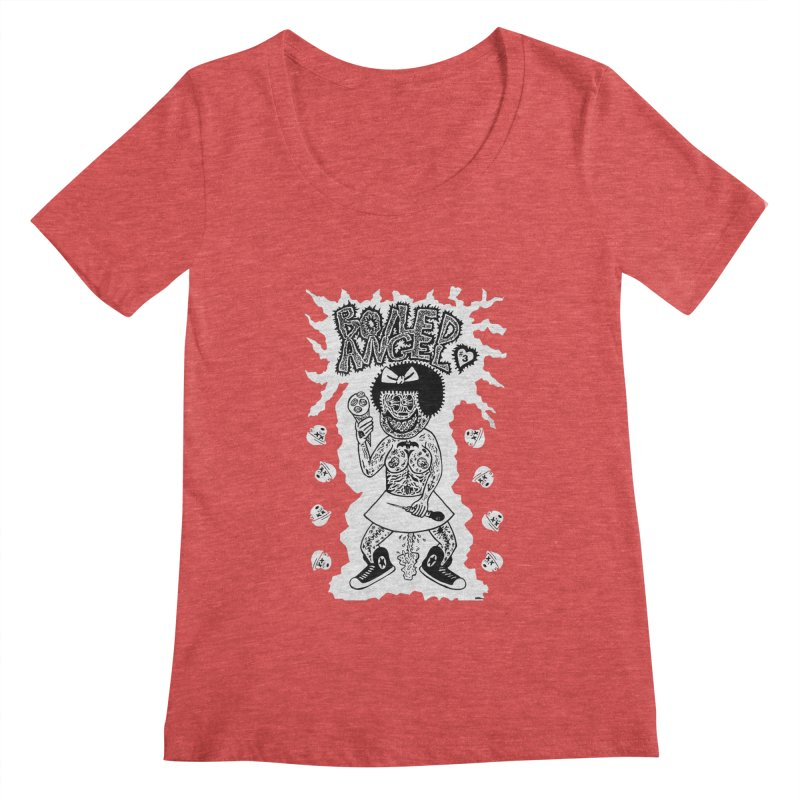 Boiled Angel Nancy  Women's Scoopneck by Mike Diana T-Shirts! Horrible Ugly Heads Limited E