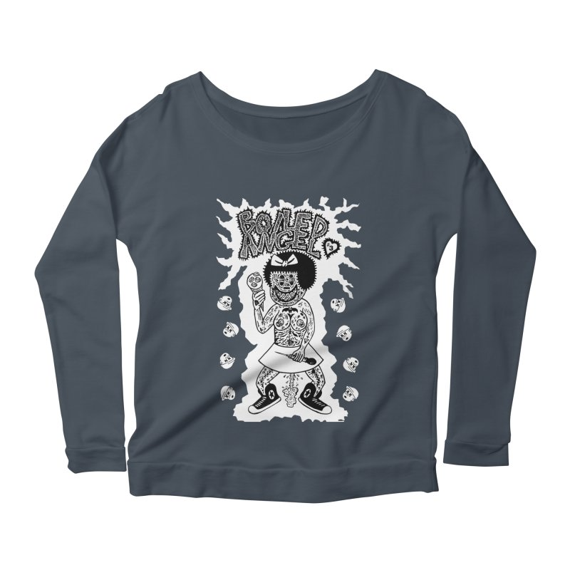 Boiled Angel Nancy  Women's Longsleeve Scoopneck  by Mike Diana T-Shirts! Horrible Ugly Heads Limited E