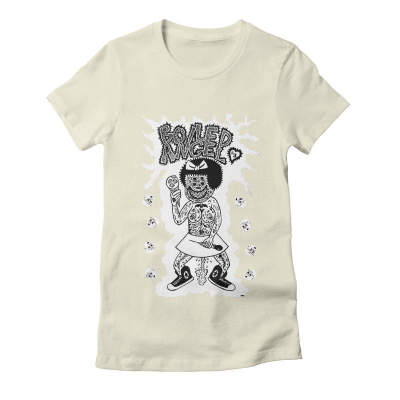 Boiled Angel Nancy  Women's Fitted T-Shirt by Mike Diana T-Shirts! Horrible Ugly Heads Limited E