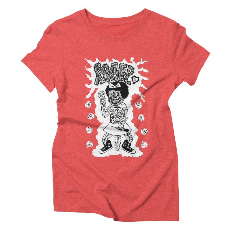 Boiled Angel Nancy  Women's Triblend T-shirt by Mike Diana T-Shirts! Horrible Ugly Heads Limited E