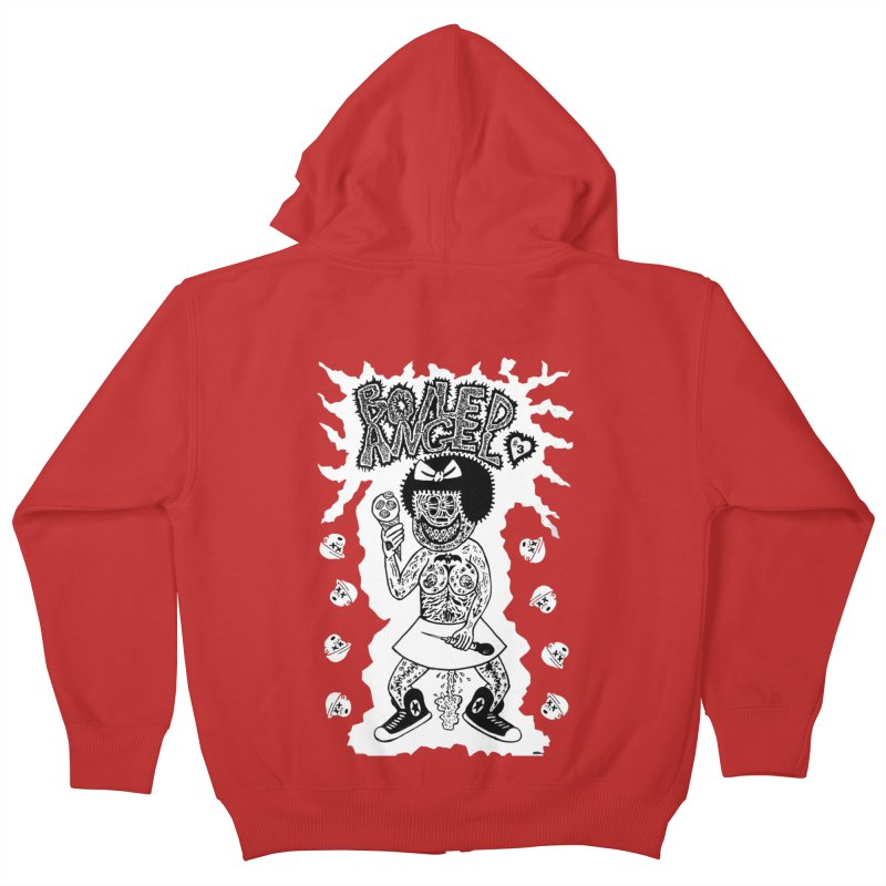 Boiled Angel Nancy  Kids Zip-Up Hoody by Mike Diana T-Shirts! Horrible Ugly Heads Limited E