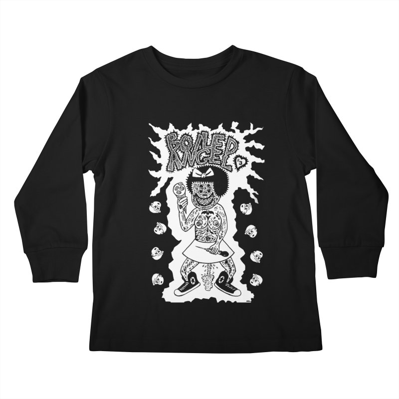 Boiled Angel Nancy  Kids Longsleeve T-Shirt by Mike Diana T-Shirts! Horrible Ugly Heads Limited E