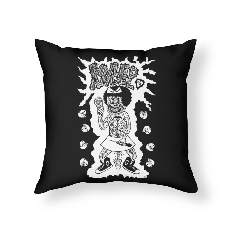 Boiled Angel Nancy Home Throw Pillow by Mike Diana T-Shirts! Horrible Ugly Heads Limited E