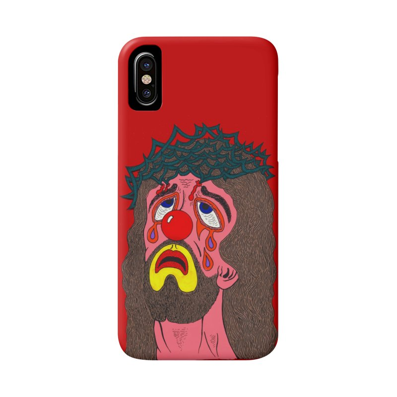 Jesus Clown Accessories Phone Case by Mike Diana T-Shirts! Horrible Ugly Heads Limited E