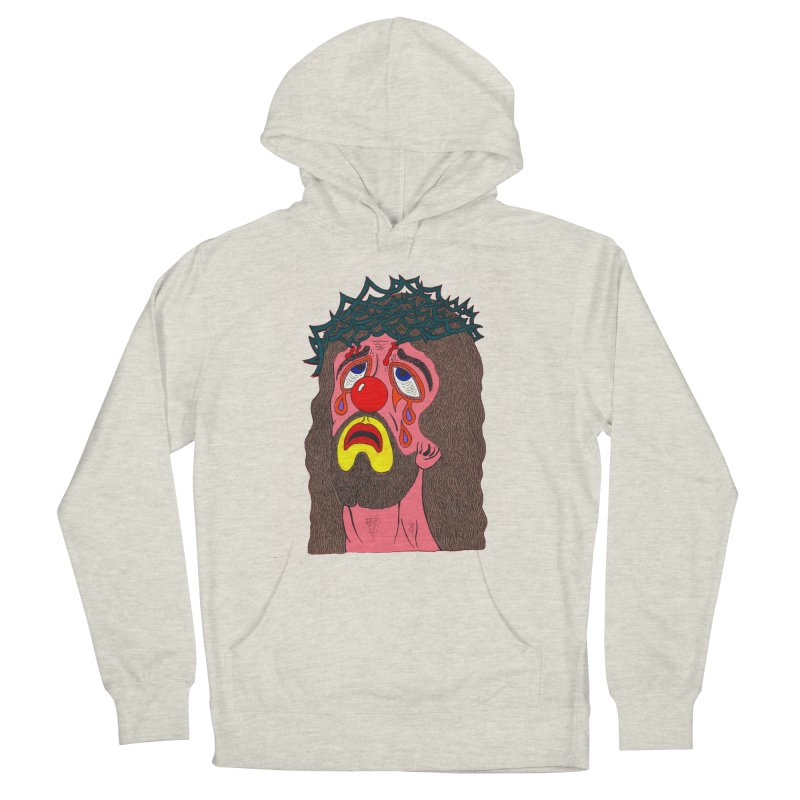 Jesus Clown Women's Pullover Hoody by Mike Diana T-Shirts! Horrible Ugly Heads Limited E