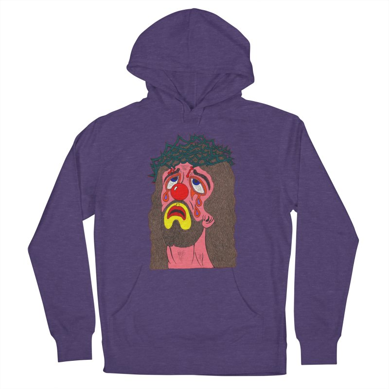 Jesus Clown Men's Pullover Hoody by Mike Diana T-Shirts! Horrible Ugly Heads Limited E