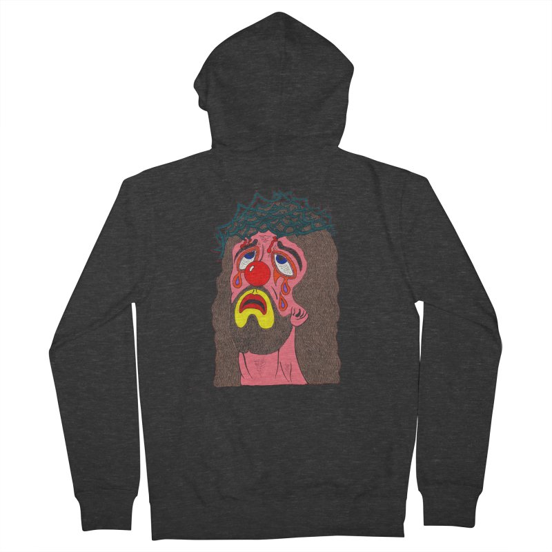 Jesus Clown Women's Zip-Up Hoody by Mike Diana T-Shirts! Horrible Ugly Heads Limited E