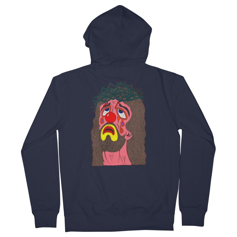 Jesus Clown Men's Zip-Up Hoody by Mike Diana T-Shirts! Horrible Ugly Heads Limited E