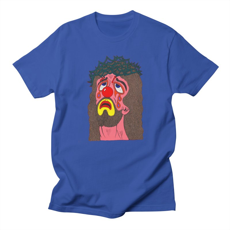 Jesus Clown Men's T-shirt by Mike Diana T-Shirts! Horrible Ugly Heads Limited E