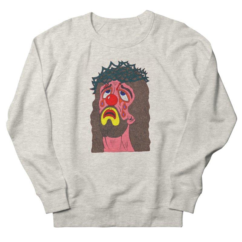 Jesus Clown Women's Sweatshirt by Mike Diana T-Shirts! Horrible Ugly Heads Limited E