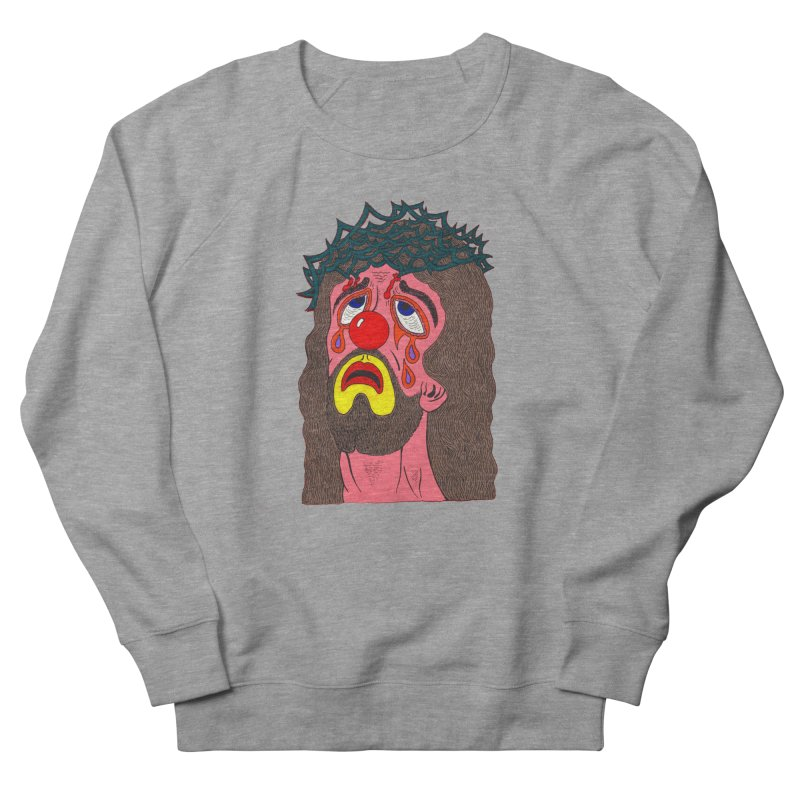 Jesus Clown Men's Sweatshirt by Mike Diana T-Shirts! Horrible Ugly Heads Limited E