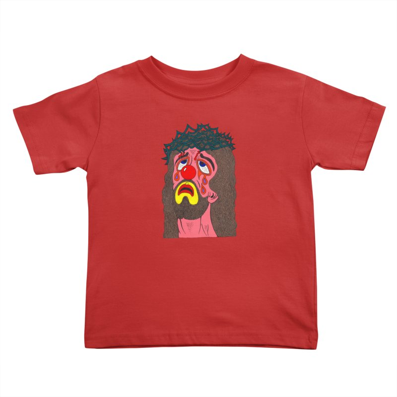 Jesus Clown Kids Toddler T-Shirt by Mike Diana T-Shirts! Horrible Ugly Heads Limited E