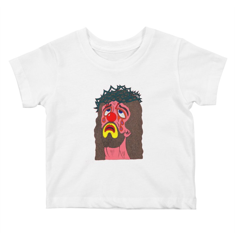 Jesus Clown Kids Baby T-Shirt by Mike Diana T-Shirts! Horrible Ugly Heads Limited E