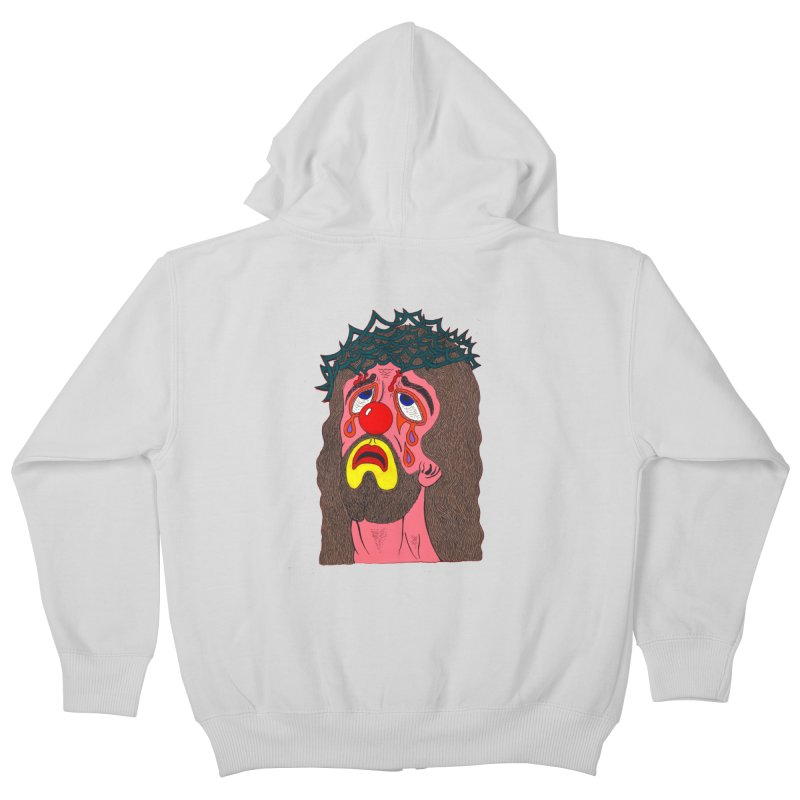 Jesus Clown Kids Zip-Up Hoody by Mike Diana T-Shirts! Horrible Ugly Heads Limited E