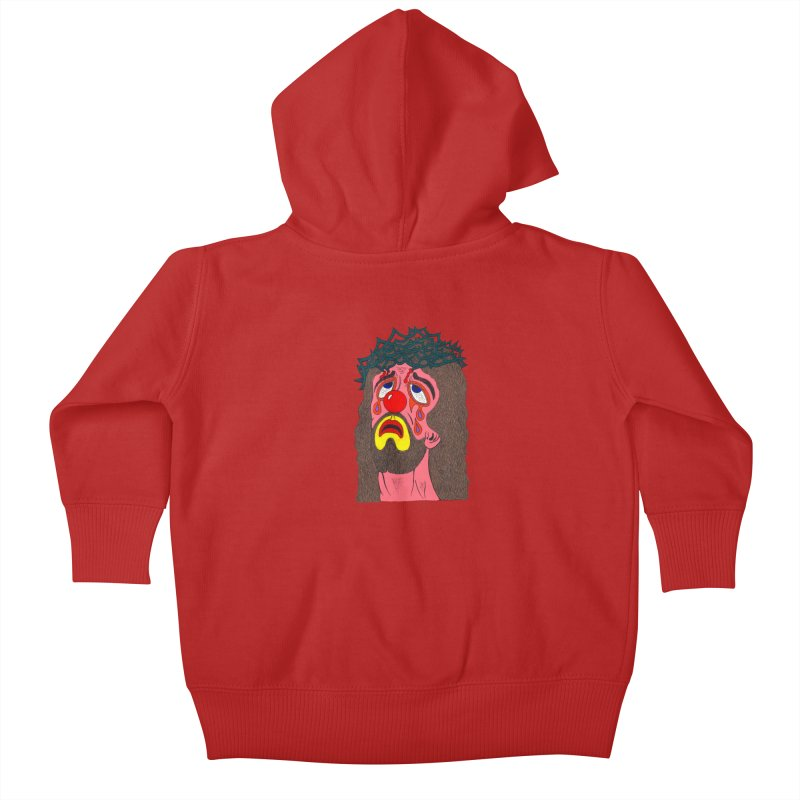Jesus Clown Kids Baby Zip-Up Hoody by Mike Diana T-Shirts! Horrible Ugly Heads Limited E