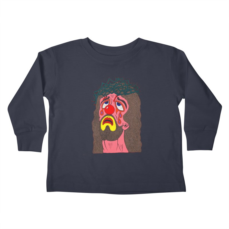Jesus Clown Kids Toddler Longsleeve T-Shirt by Mike Diana T-Shirts! Horrible Ugly Heads Limited E