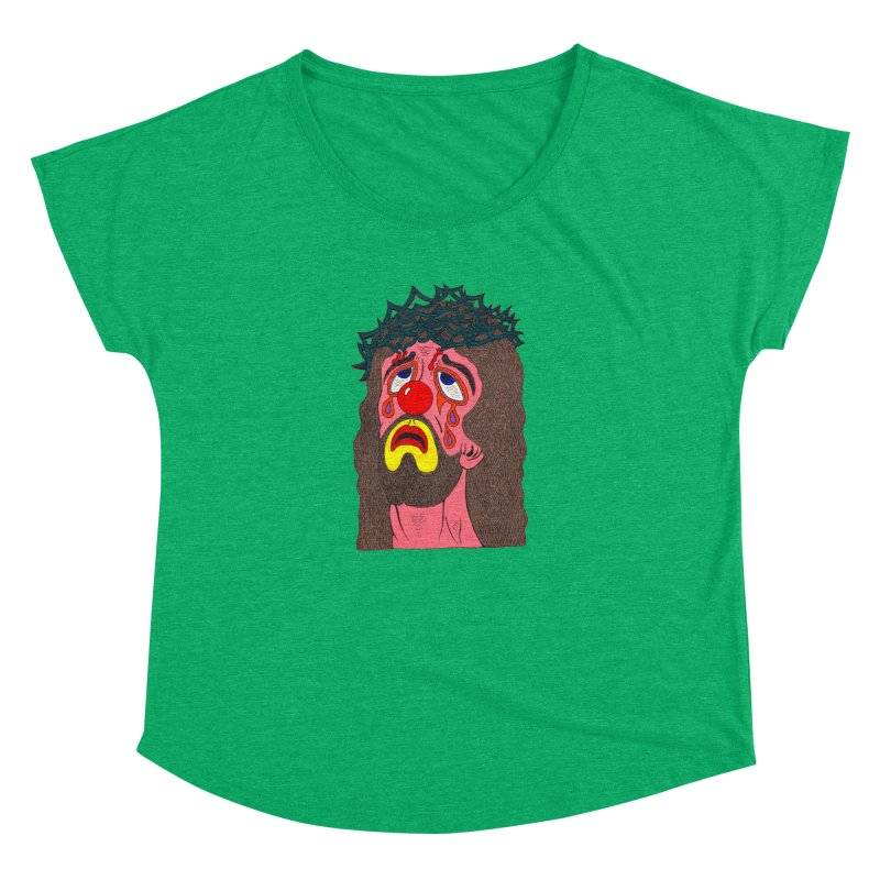 Jesus Clown Women's Dolman by Mike Diana T-Shirts! Horrible Ugly Heads Limited E