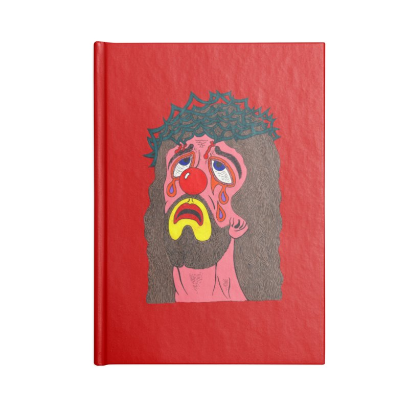 Jesus Clown Accessories Notebook by Mike Diana T-Shirts! Horrible Ugly Heads Limited E