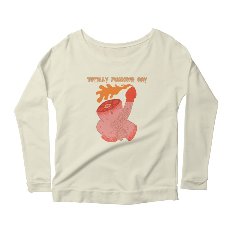 TFG Women's Longsleeve Scoopneck  by Mike Diana T-Shirts! Horrible Ugly Heads Limited E