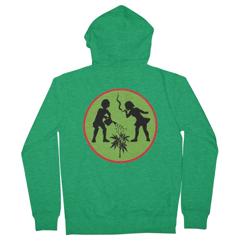 Mean Green Women's Zip-Up Hoody by Mike Diana T-Shirts! Horrible Ugly Heads Limited E