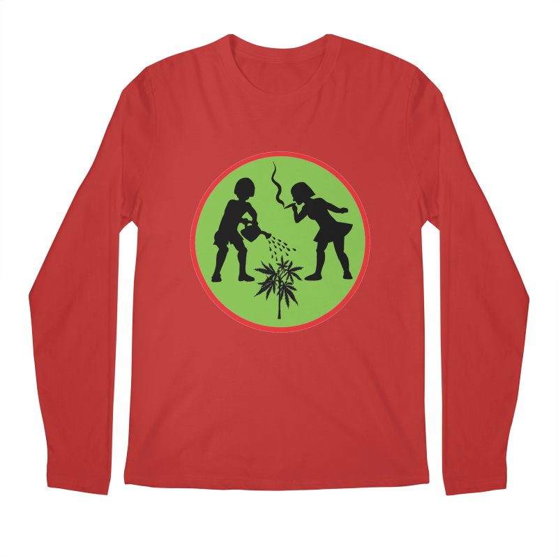 Mean Green Men's Longsleeve T-Shirt by Mike Diana T-Shirts! Horrible Ugly Heads Limited E