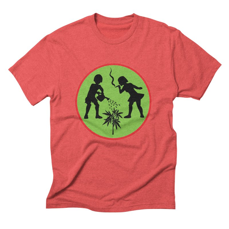 Mean Green Men's Triblend T-Shirt by Mike Diana T-Shirts! Horrible Ugly Heads Limited E