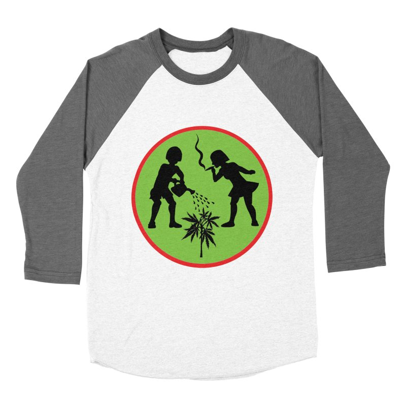 Mean Green Women's Baseball Triblend Longsleeve T-Shirt by Mike Diana T-Shirts Mugs and More!