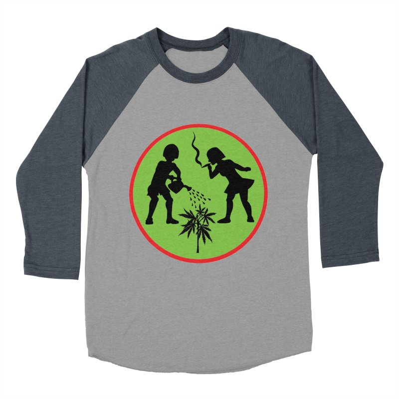 Mean Green Men's Baseball Triblend T-Shirt by Mike Diana T-Shirts! Horrible Ugly Heads Limited E